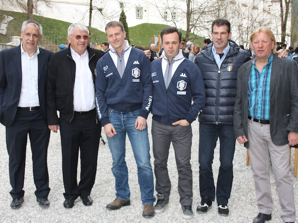 Andreas Falkensteiner, Reinhard Niederkofler, Christian Oberstolz, Patrick Gruber, Armin Zöggelerer, Karl Wierer