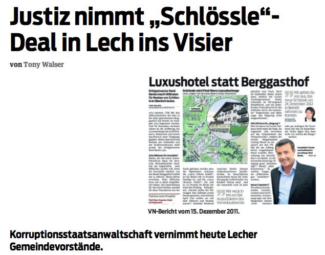 Der Bericht der Vorarlberger Nachrichten
