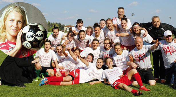 Der CF Südtirol feiert den Aufstieg in die Serie A (FOTO: Matteo Groppo)