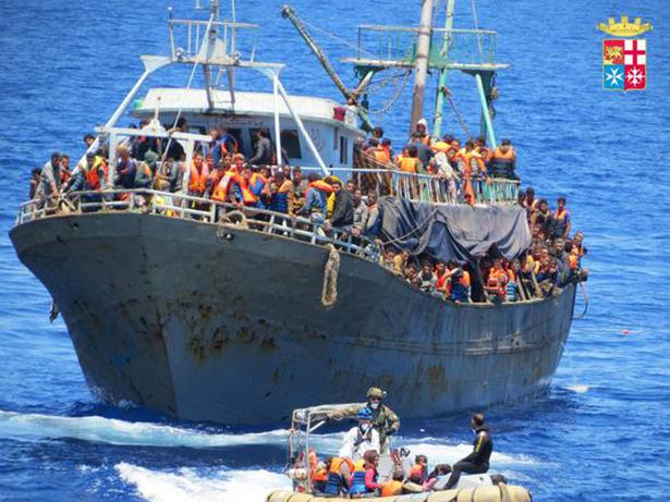 Flüchtlingsboot (Foto: Marina Militare)
