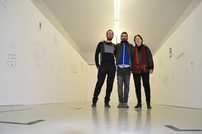 Emanuele Guidi, Aldo Gianotti und die Präsidentin der ar/ge Kunst Karin Welponer: In Zeiten zunehmender Marktzentrierung der Kunst sind Institutionen nicht mehr der Feind, sondern die Lösung