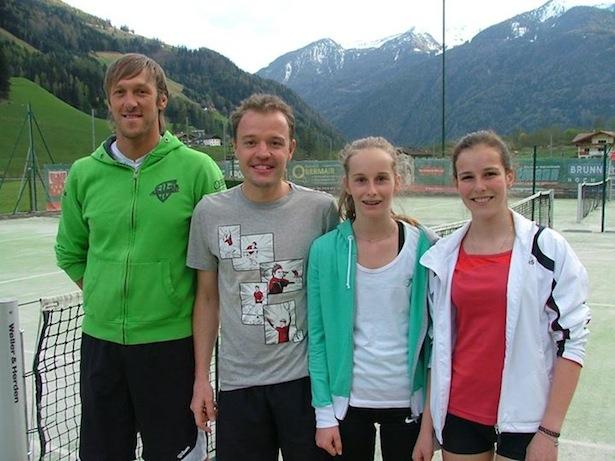 Armin Leiter, Markus Thaler, Carolin Hilber und Sarah Schmid