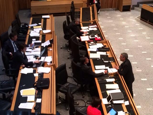 Lebhafte Diskussion im Landtag