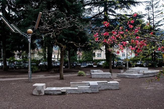 ArcadiaLego im Meraner Marconi Park: Geschichte als Lego-Spielplatz.