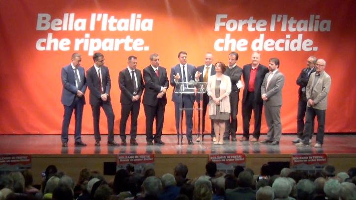 Matteo Renzi bei der PD-Versammlung im Rainerum