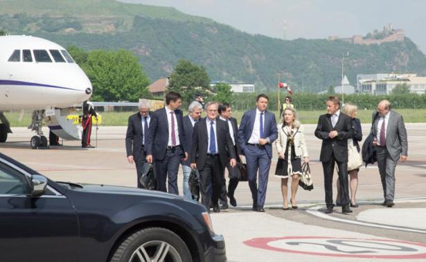 Die Ankunft des Premiers (Foto: Lpa)