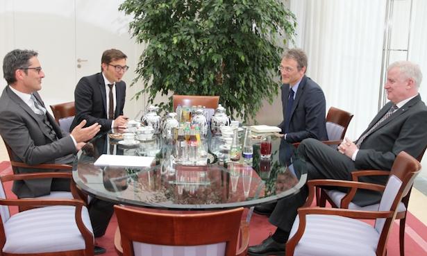 Das Gespräch in der Münchner Staatskanzlei