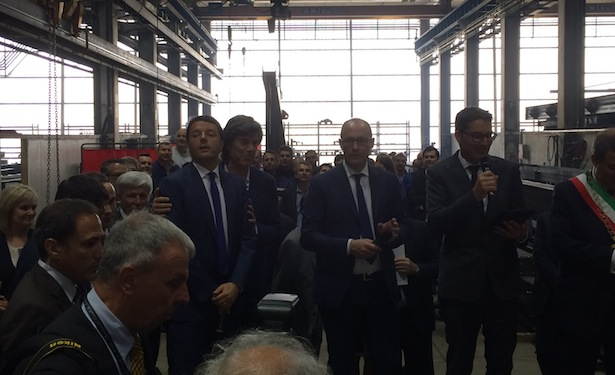 Matteo Renzi im Unternehmen Stahlbau Pichler in Bozen