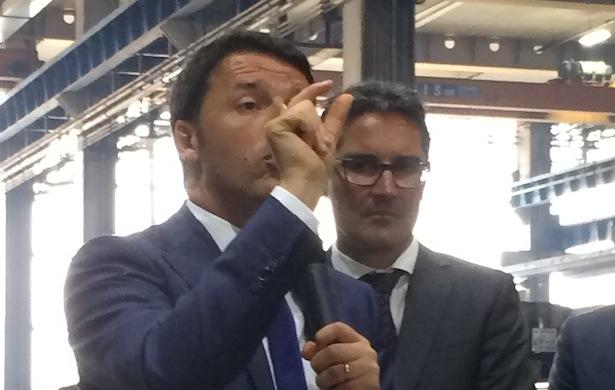 Matteo Renzi mit LH Arno Kompatscher