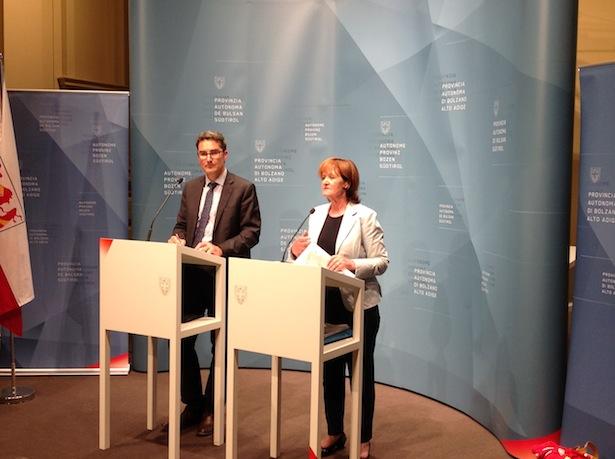 LH Arno Kompatscher und LR Martha Stocker