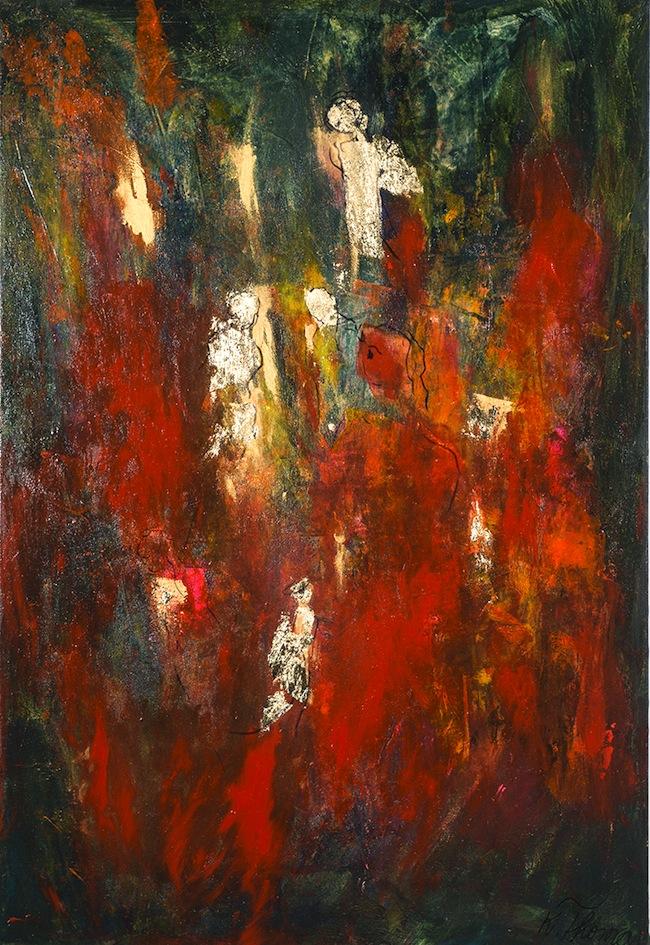 """Malerei von Karen Thomas: """"Jeder Künstler hat eine ethische Aufgabe, jedes Kunstwerk birgt eine Botschaft in sich."""""""