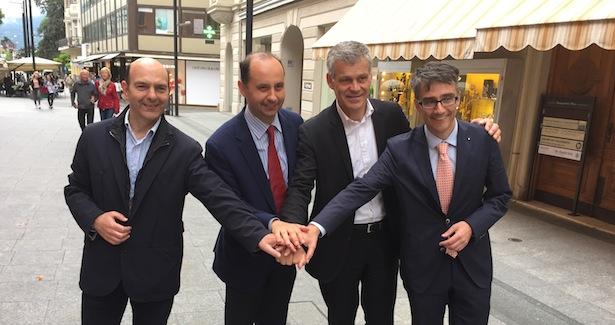 Nerio Zaccaria, Giorgio Balzarini, Gerhard Gruber und Diego Zanella