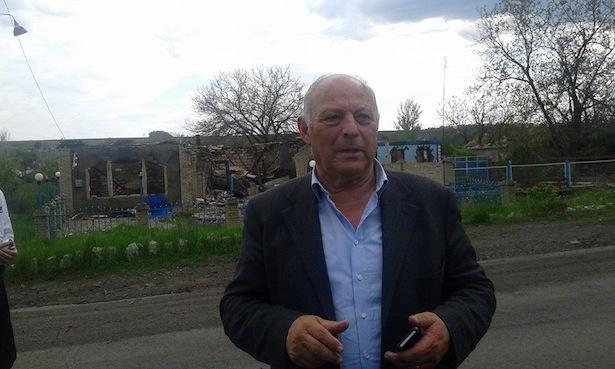 Luis Durnwalder in Donezk (Foto: Alessandro Bertoldi/Facebook)
