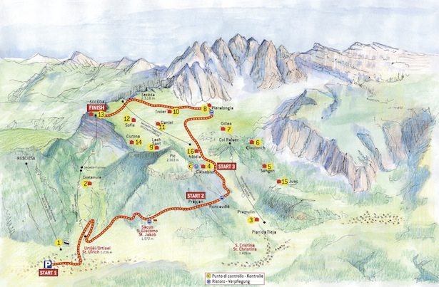 Track map Val Gardena Mountain Run_2015 Small