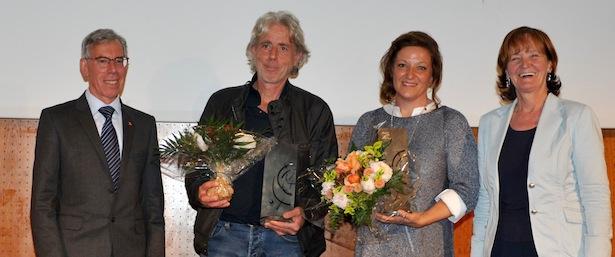 Die Trainer des Jahres Paul Forrer und Sabrina Da Col mit Günther Andergassen und Martha Stocker
