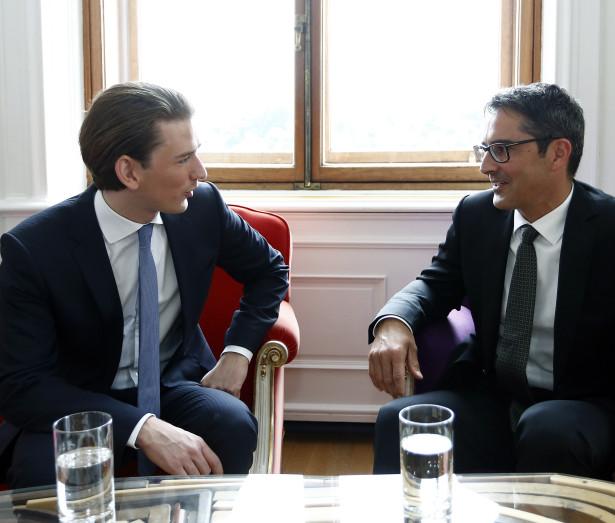 Ein früheres Treffen zwischen LH Kompatscher und Minister Kurz