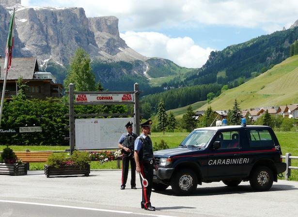 carabinieri corvara