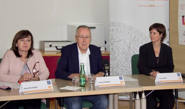 Beate Palfrader, Roland Psenner und Karin Amor