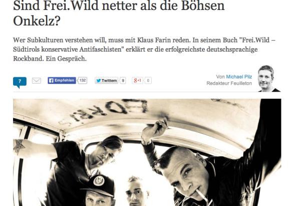 Welt-Artikel über Frei.Wild