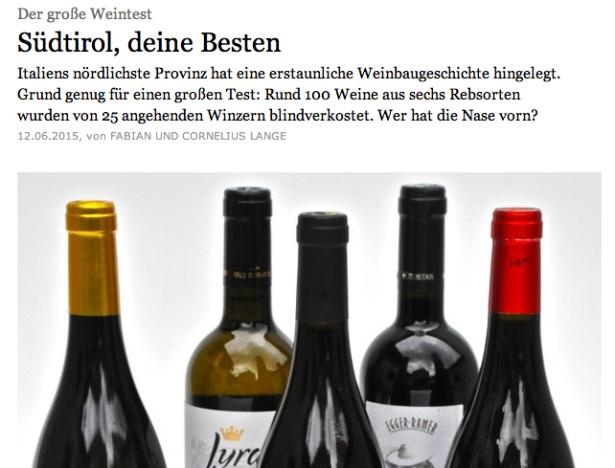 Der FAZ-Online-Artikel über das Weinland Südtirol