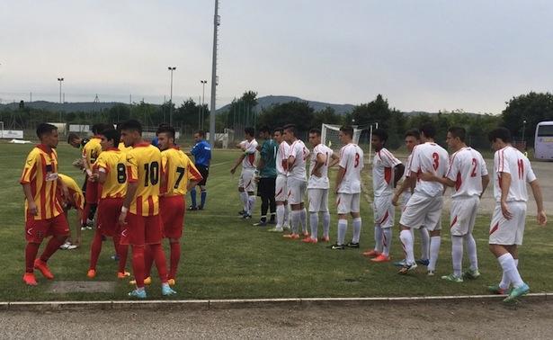 Lecce e FCS prina dell'inizio della sfida