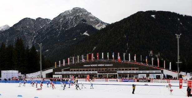 Die Nordic-Arena in Toblach (Foto: P. Teyssot)