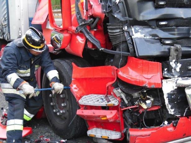 Der Unfall (Fotos: FF Gossensaß)