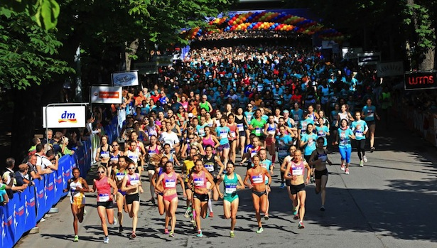 Der Start des Frauenlaufs in Wien