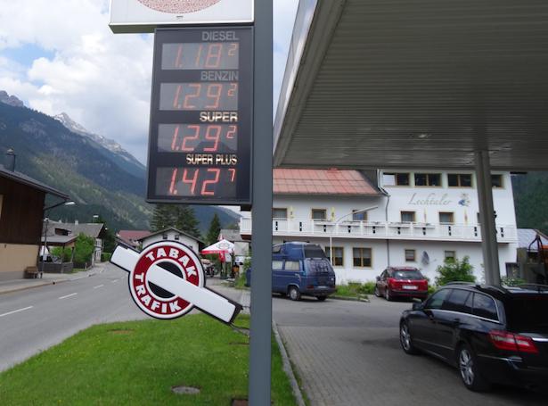 Tankstelle in Nordtirol
