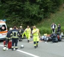 Verletzte Motorradfahrer