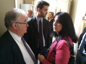 Anwalt Paolo Fava (links im Bild)