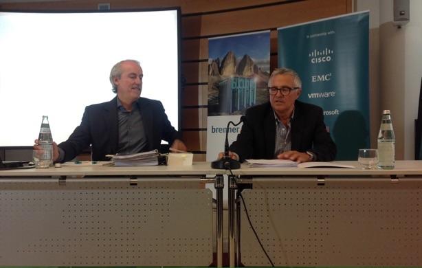 Karl Manfredi und Ferdinand Willeit am Sitz der Brennercom