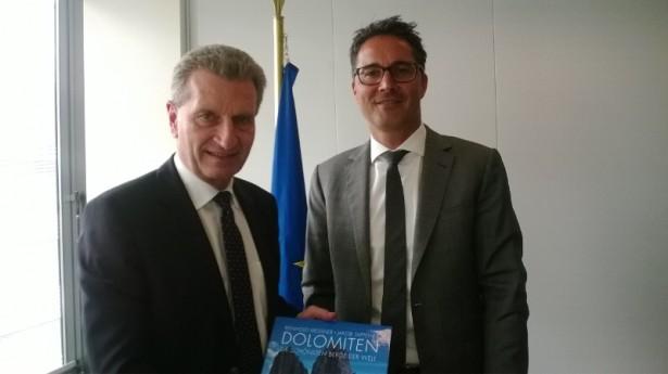 Der Landeshauptmann mit dem EU-Kommissar