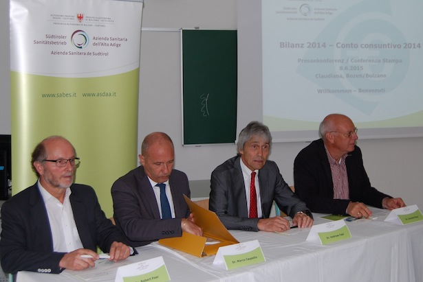 Robert Peer, Marco Capello, Andreas Fabi und Oswald Mayr auf der Pressekonferenz am Montag