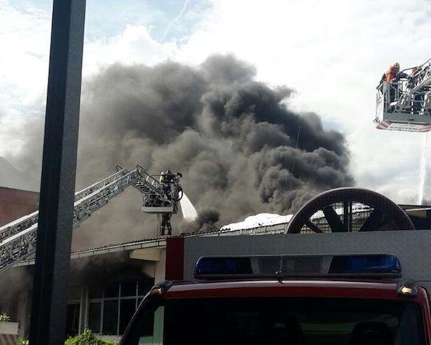 Der Brand in Vahrn (Foto: FF Klausen)