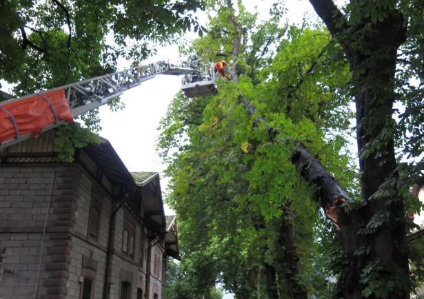 Der Einsatz der Feuerwehr in Klausen (Foto: FF Klausen)