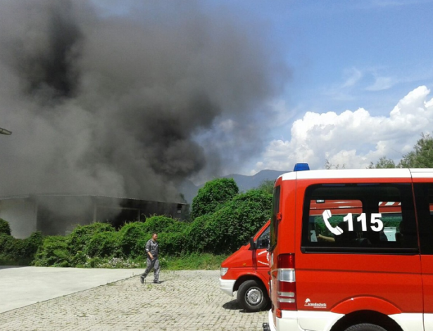 Der Brand in Vahrn (Foto: goinfo.it)