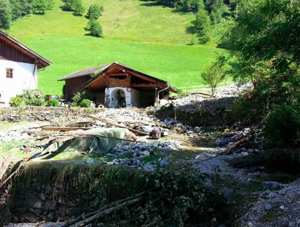 Die Schäden in Pflersch (Fotos: FF Pflersch)
