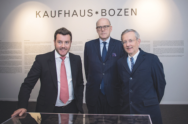 Michl Ebner (rechts im Bild) mit Heinz Peter Hager und René Benko