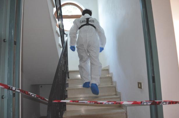 Die Spurensicherung im Hotel in Raas