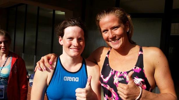 Kathrin Oberhauser mit Laura Letrari