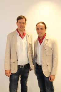 lvh-Vizepräsident Martin Haller mit Philipp Achammer