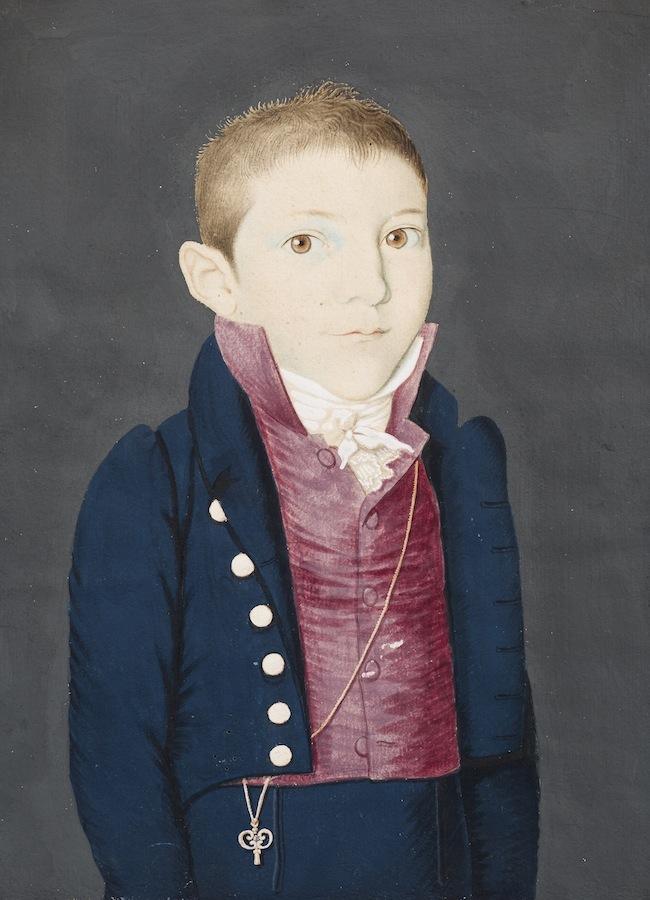 Unbekannter Maler, Unbekannter Knabe, um 1820, Tiroler Landesmuseen, Innsbruck
