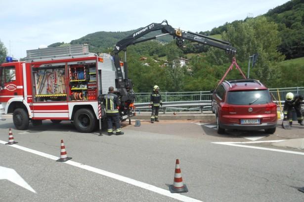 Der Unfall in Waidbruck (Foto: FF Waidbruck)