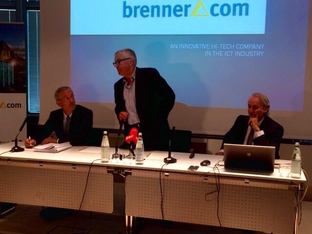 Michl Ebner, Ferdinand Willeit und Karl Manfredi auf der PK