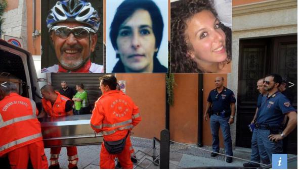 Der Täter und die Opfer (Fotos: L'Adige)