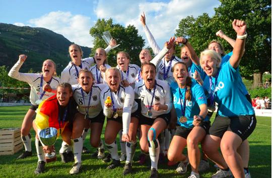 Die siegreiche deutsche Mannschaft (Fotos: DFBL/Beckmann)