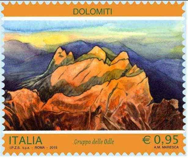 Briefmarke  ITALIA- Gruppo delle Odle