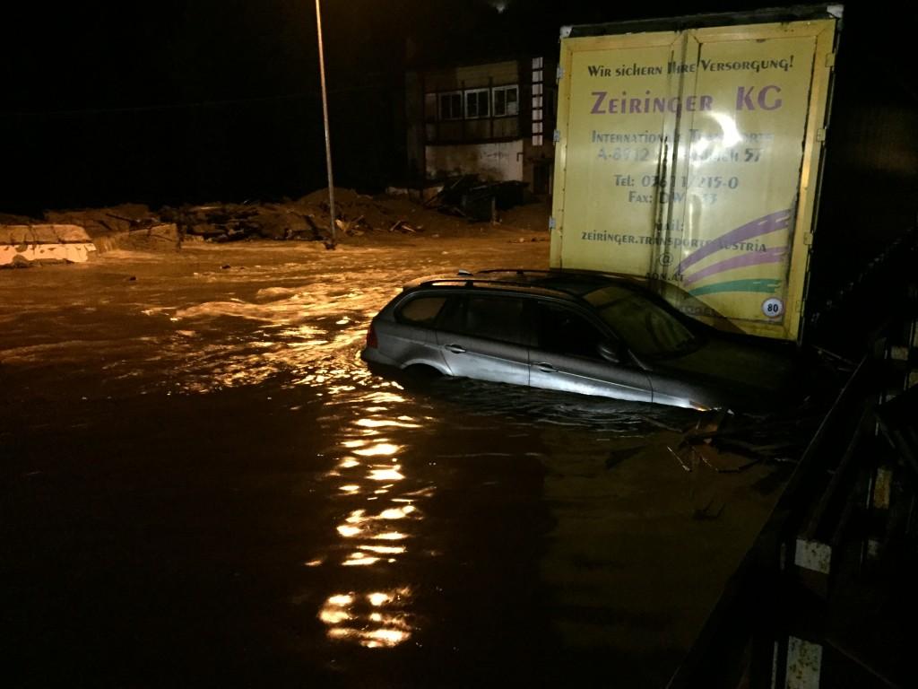 Überschwemmung Wonnebach