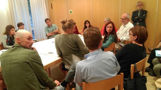 Die Sitzung der Grünen: Lebhafte Diskussion
